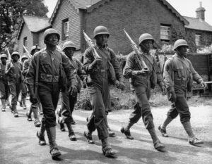 Black soldiers during World War II